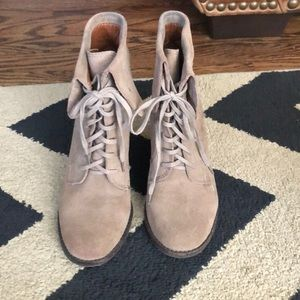 Lucky Brand Suede lace up Wedges